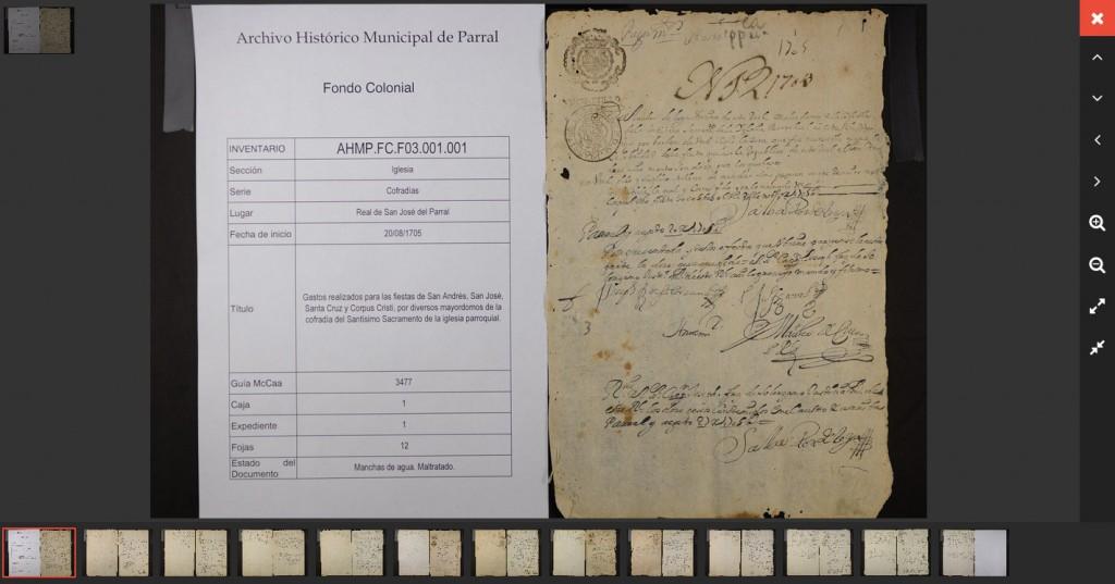 Fondo Colonial Collection Archival Records